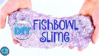 DIY FISHBOWL SLIME - CRUNCHY SLIME - GEODE SLIME!  HOW TO MAKE SLIME! thumbnail