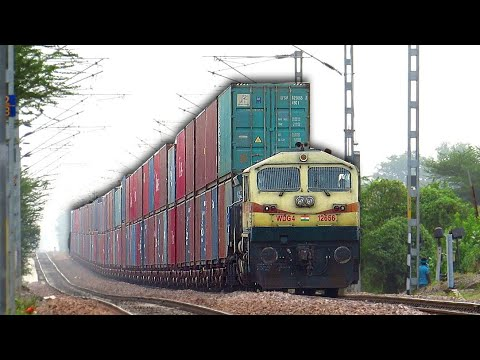 Mighty Diesel Monsters Speeding up and Down the Gradients | Indian Railways