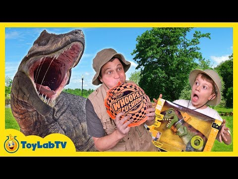 Download Youtube: Giant T-Rex Dinosaur Chases Park Ranger with Jurassic World Dinosaurs Toys For Kids