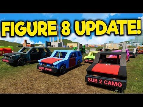 Massive Figure 8 Race & Crashes - Brick Rigs Multiplayer - Lego Figure 8 Track Update