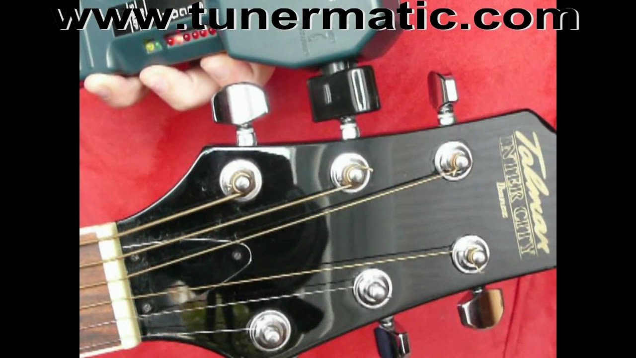 tunermatic automatic guitar tuner youtube. Black Bedroom Furniture Sets. Home Design Ideas