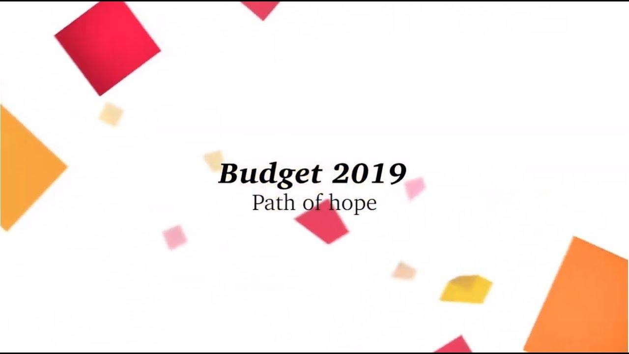 PwC 2019 budget breakfast - Path of hope