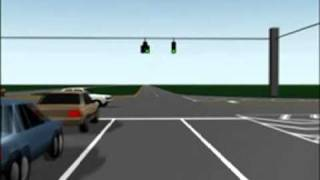 Animation of T-Bone Collision of Van Into Passenger Car