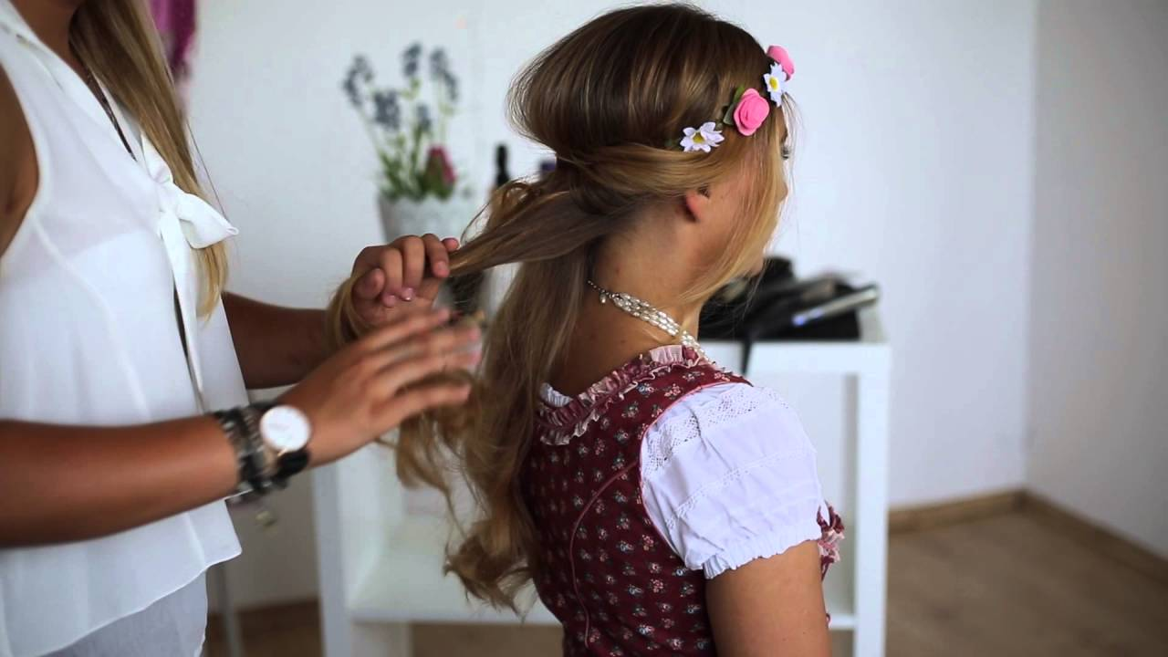 Stylische Dirndl Frisuren Tutorial 3 Von Ludwig Therese Youtube