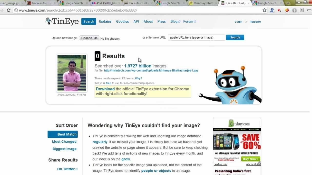 Tineye vs Google - Best Reverse Image Search Engine? - YouTube