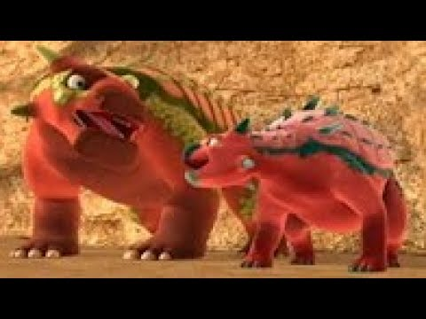 Поезд динозавров Юджин Эуоплоцефал Мультфильм для детей про динозавров