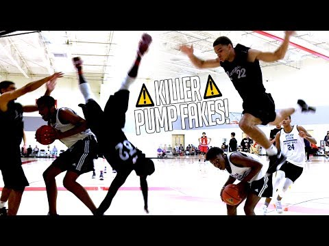 The Most DANGEROUS Play In Basketball! Pump Fake Almost Ends 2 Players Careers!