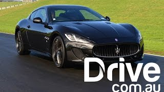 Maserati GranTurismo MC Sportline Review | Drive.com.au(The Italian car maker's four-seat coupe turns back the clock on the road, winds it forward on the track., 2015-04-27T01:13:18.000Z)