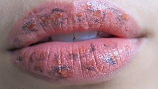 Leopard Print Lips : Lip Art Tutorial