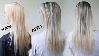 How to Reverse Balayage A.K.A. Smudge Root   Ft. Redken Blur Brush