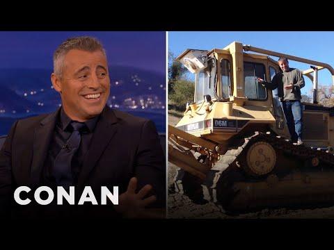 Matt LeBlanc's Ranch Has A Bulldozer  - CONAN on TBS