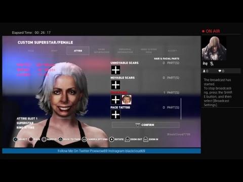 WWE 2K18 CREATING HILLARY CLINTON