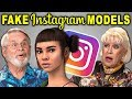 ELDERS REACT TO FAKE GIRLS ON INSTAGRAM? (Lil Miquela, Shudu)