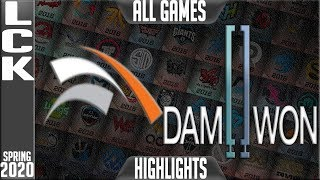HLE vs DWG Highlights ALL GAMES | LCK Spring 2020 W4D2 | Hanwha Life Esports vs Damwon Gaming