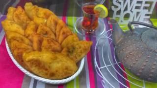 Домашние пирожки на кефире/ Пирожки с мясом, картошкой, сыром. Тесто на кефире