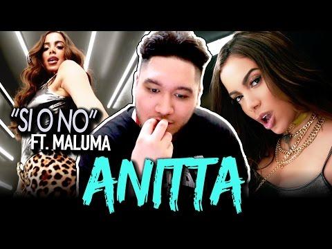 Anitta  Si O No ft Maluma  Spanish Version REACTION!!!