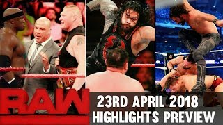 WWE Monday Night Raw 23rd April 2018 Hindi Highlights Preview