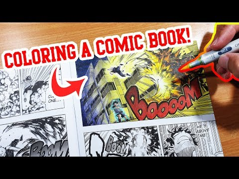 YOUTUBE ARTIST COLORS A MANGA! - My Hero Academia!