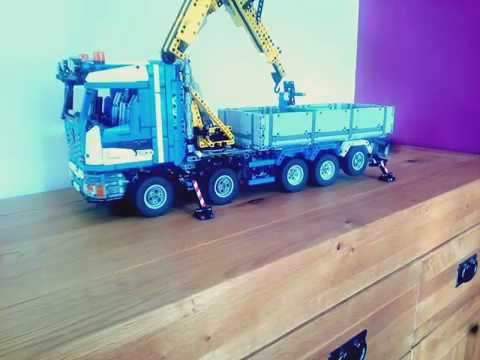 lego technic moc camion grue youtube. Black Bedroom Furniture Sets. Home Design Ideas