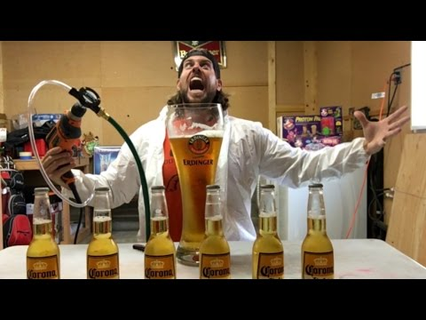 Did I Just Create a New Way to Chug Beer?? (#ChugDrill5000) | L.A. BEAST