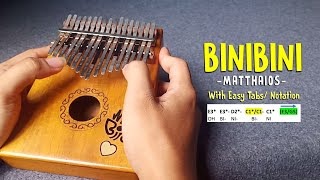 Binibini - Matthaios | Witty Birds Kalimba Cover with Easy Tabs and Notation