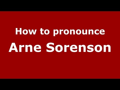 How to pronounce Arne Sorenson (American English/US)  - PronounceNames.com
