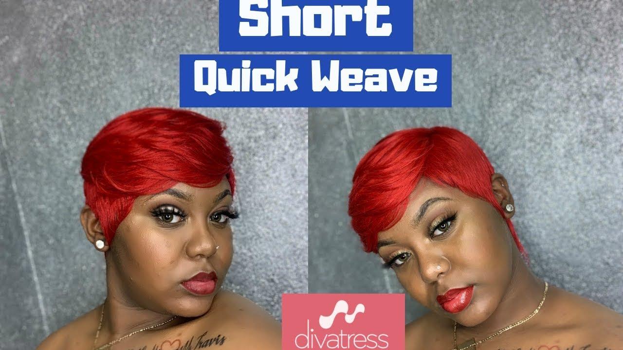 outre' velvet 44pcs | how to do a short quick weave | pixie cut