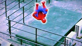 SPIDERMAN FIGHTS CRIME In Real Life | Parkour, Flips & Kicks