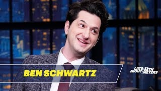 Ben Schwartz and Adam Pally Taped a Train-Wreck Episode of CBS's The Late Late Show