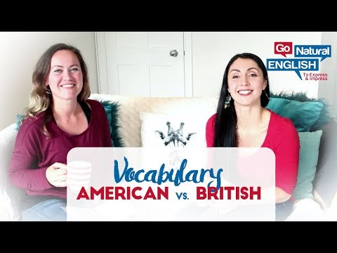 What's the difference between American and British English vocabulary?