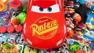 HUGE Lightning McQueen Surprise Eggs Opening Disney Cars 3 Toys for Boys Blind Bags Kinder Playtime