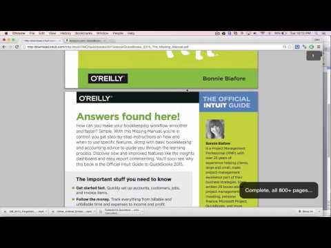 QuickBooks 2015 Download Free Manual