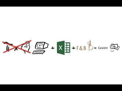 kalkulation speisen in excel mit allen kalkulationsvarianten kf ka we und db youtube. Black Bedroom Furniture Sets. Home Design Ideas