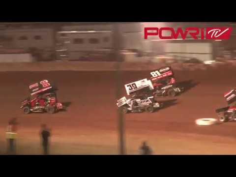 3-24-18 POWRI Speedway Motors Micro Sprint League A-Main Highlights from I-44 Riverside Speedway