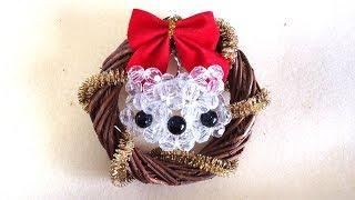 【わんこビーズ】簡単!わんこリースの作り方 How to make Dog Christmas Wreath