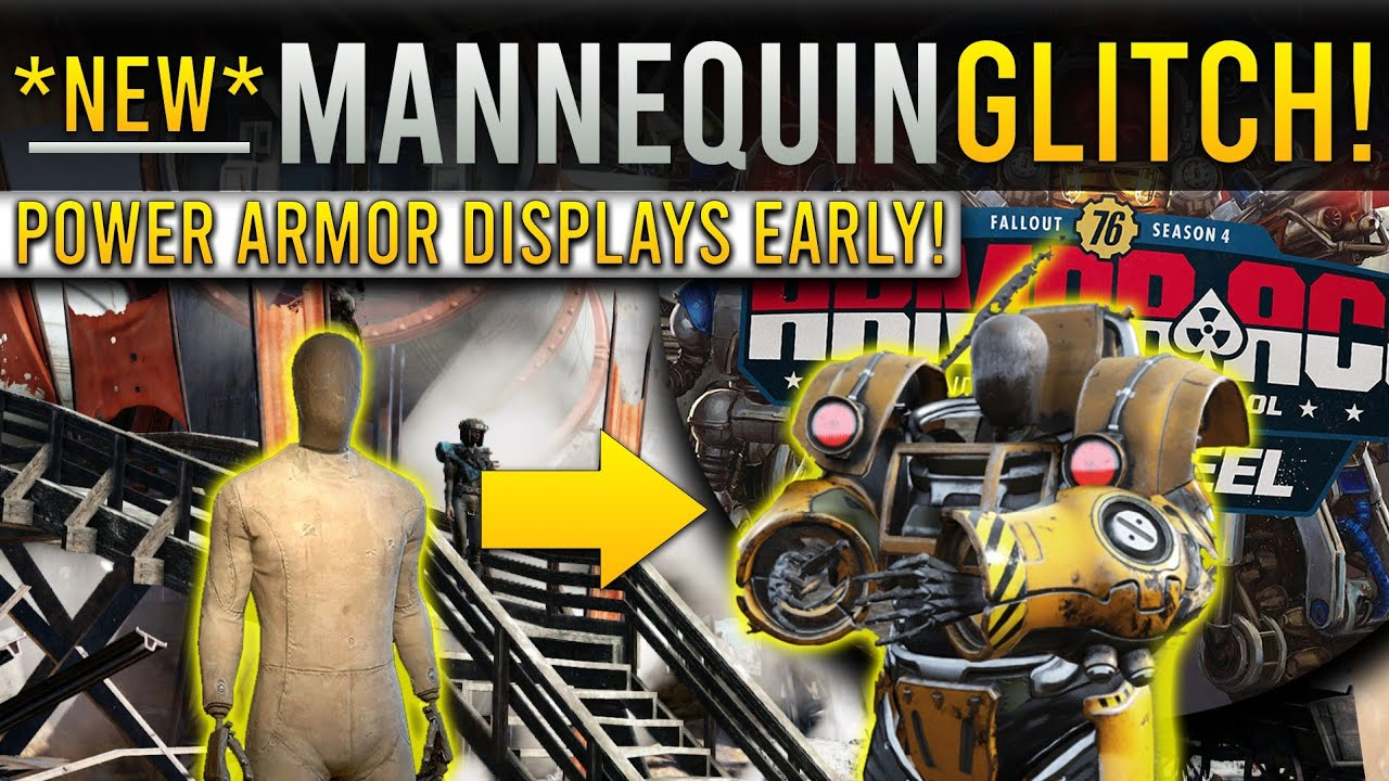 Fallout 76 *NEW* Power Armor On Mannequin Glitch! Power Armor Display Early! Swap Glitch,Camp Glitch