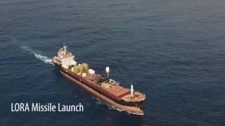 بالفيديو.. إسرائيل تطلق صاروخا باليستيا قصير المدى من سفينة تجارية!