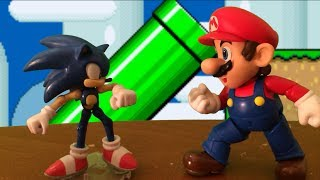 Mario VS Sonic Stop Motion REMATCH