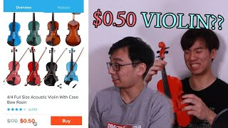 THESE 50 CENT VIOLINS LOOK HORRIBLE