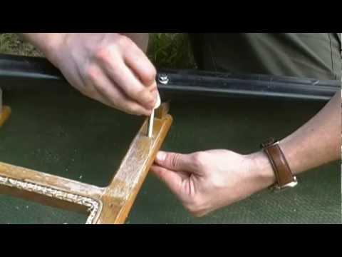 Old Town Canoe Refurbishing Repairing Seat Strut