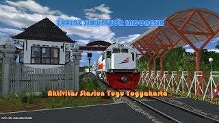 Trainz Simulator Indonesia Aktivitas Langsiran KA Sancaka KA 80 Lodaya Berangkat YK