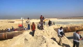 قناة السويس الجديدة: شاهد حفر وتكريك وسحب وطرد الرمال فى قناة السويس الجديدة22يناير2015