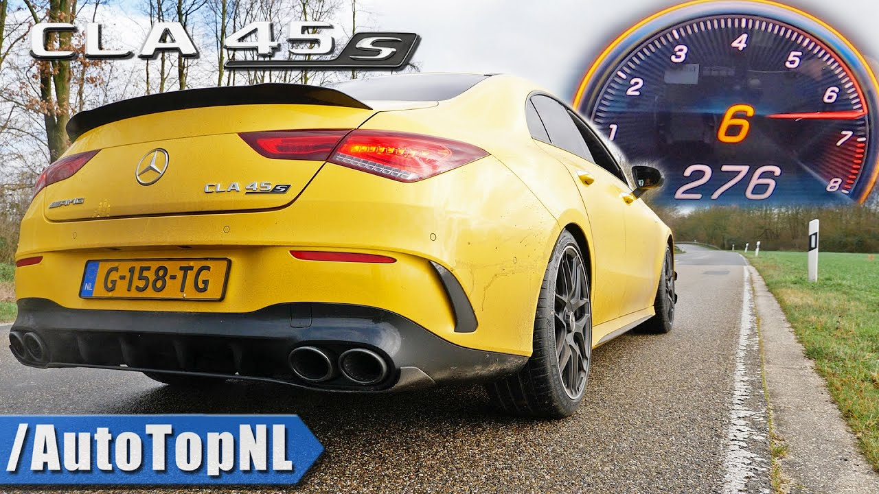 mercedes amg cla 45 s 0 270km h acceleration top speed exhaust sound by autotopnl