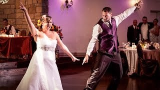 Bride & Brother Surprise Guests During Tribute Dance