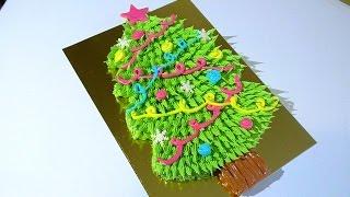 Новогодний торт Ёлка Кремовые торты   Christmas Tree Cake