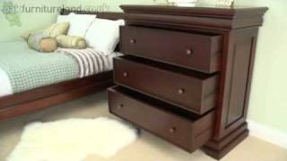 Sleigh Solid Mahogany 3+1 Chest of Drawers From Oak Furniture Land
