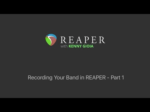 Recording Your Band In REAPER - Part 1 - Intro - Setting Up Tracks & Inputs