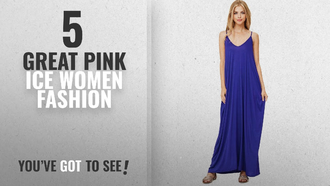 3d5a509485b Pink Ice Women Fashion  2018 Best Sellers   Pink Ice Women s Light  n Soft  Harem Fit Maxi Dress (M