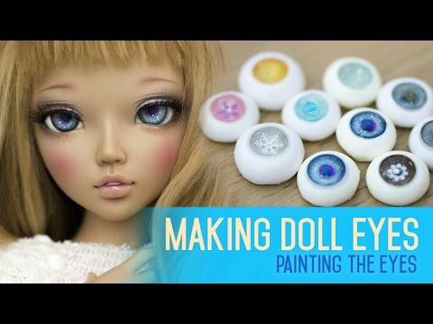 Eye making for dolls - Painting the iris and cornea