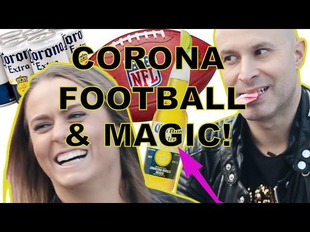 Corona Magic for Superbowl Sunday! Do you like football?